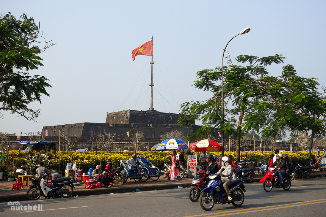 The Hue Citadel Flag Tower. It's located at the front of the complex, and is the tallest in Vietnam!