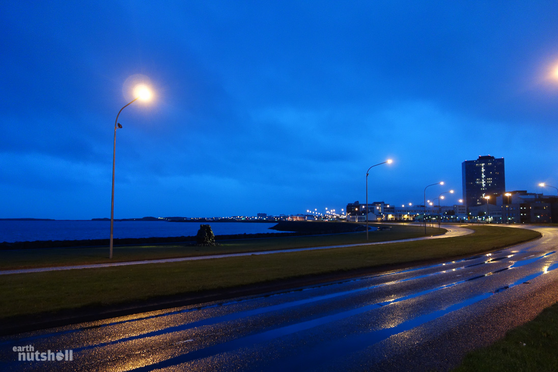 Reykjavik at 1am, at it's darkest. Total sunlight again by 3am. Use the long days, enjoy nights out!