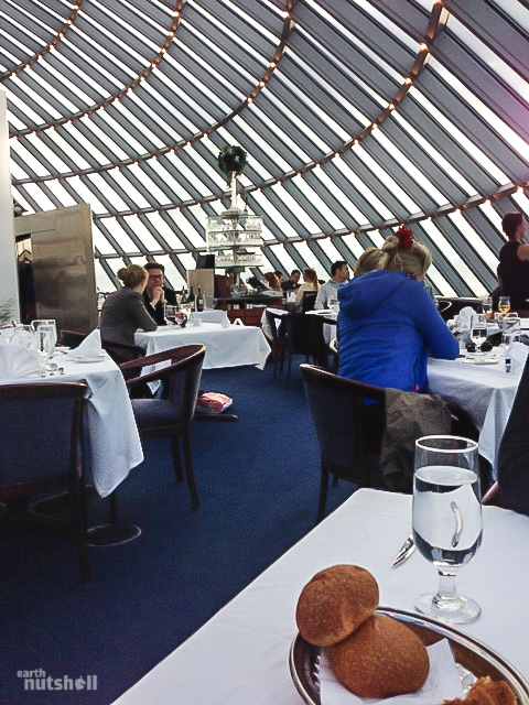 Inside Perlan. Lavish fine dining - and the price didn't disagree!